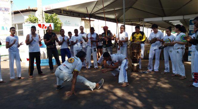 Durante o festival do peixe, Esperantina sediou jogos abertos de capoeira