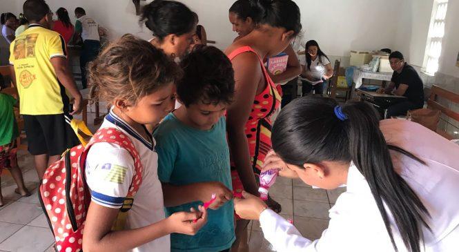 Equipe saúde da família leva ações de saúde e cidadania ao bairro Pedreira