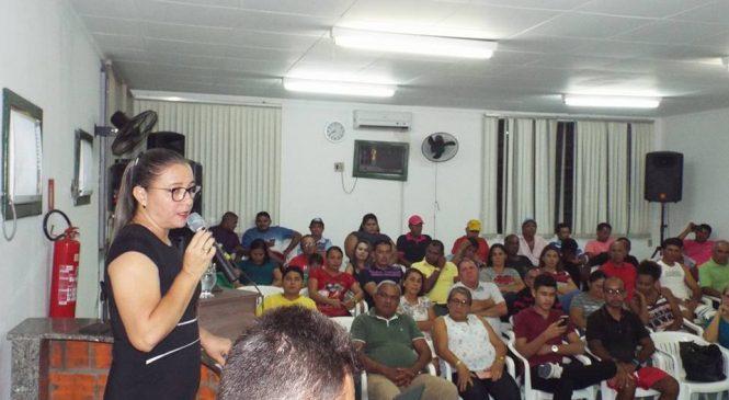 Prefeita Vilma Amorim, leva mensagem a câmara na abertura do ano Legislativo