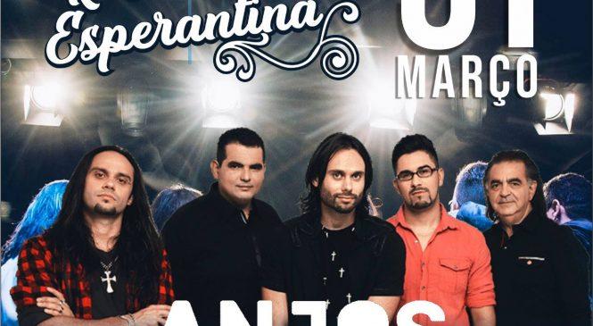 Banda Anjos de Resgate, dia 31 de março em grande show em Esperantina