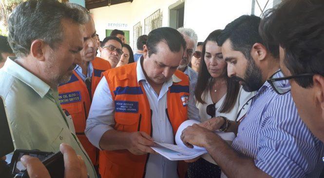 Prefeitura e deputado Limma entregam relatório das enchentes ao Ministro da integração Nacional