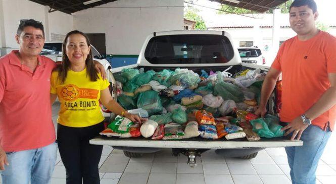 Quase uma tonelada de alimentos foi arrecada na final do campeonato de futsal