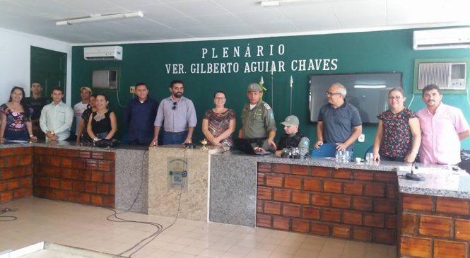 Aula Inaugural de implantação do Projeto Pelotão Mirim em Esperantina