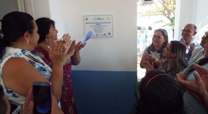 Prefeita Vilma Amorim entrega nova sede do centro de atenção psicossocial