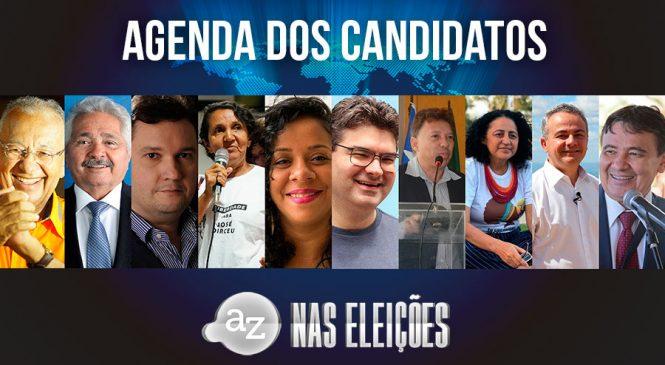 Confira a agenda dos candidatos a governador do Piauí desta segunda-feira