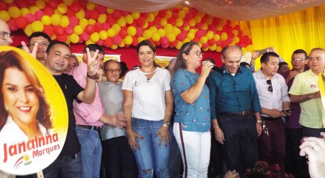 Confira como foi o lançamento da candidatura a reeleição da deputada Jannaina Marques