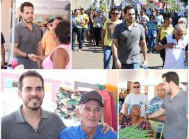 Candidato a deputado Marcos Aurélio fez caminhada em Esperantina