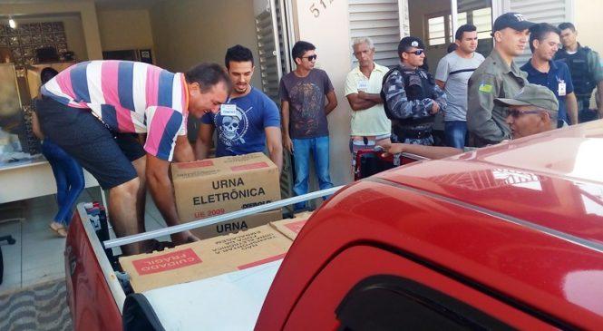 120 urnas eletrônicas são distribuídas em Esperantina e Morro do Chapéu