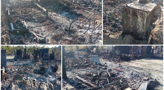 Três casas foram incendiadas em Esperantina