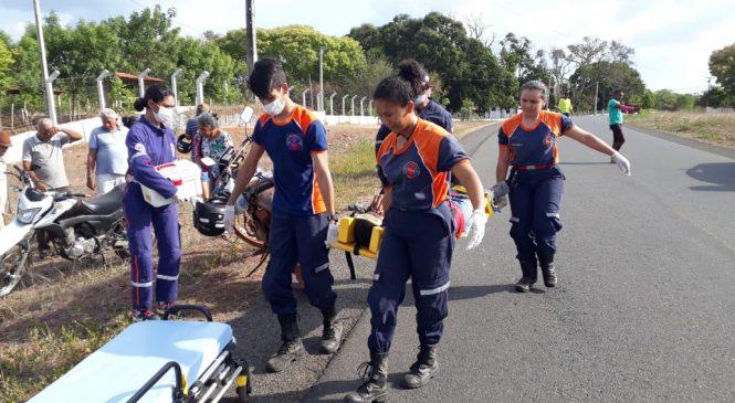 03 acidentes de motos deixam vários feridos em Barras