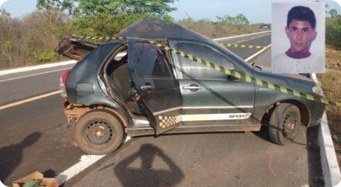 Colisão entre ônibus e carro de passeio deixa um morto na BR-343