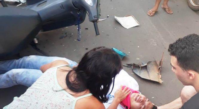 Colisão entre moto e caminhão deixa uma pessoa ferida em Esperantina