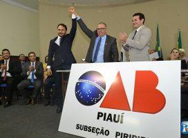 Manoel Inácio toma posse na Subseção da OAB de Piripiri