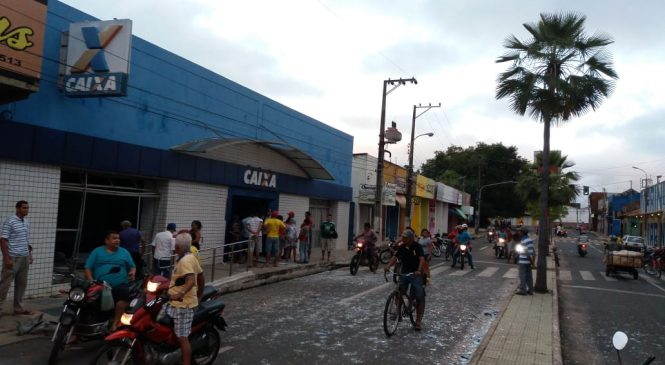 Dois bancos são explodidos durante a madrugada em Campo Maior