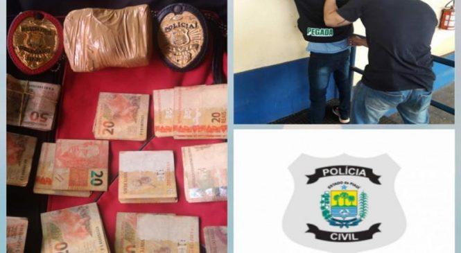 Polícia Civil de Piripiri prende traficante de drogas