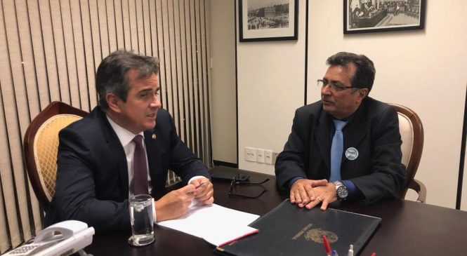 Em audiência com senador Ciro Nogueira, prefeito Genival pede recursos para Joaquim Pires