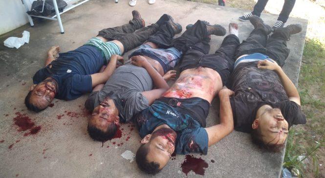 Assaltantes  trocam tiros com a polícia e 04 foram mortos