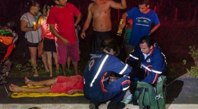 Pedreiro fica gravemente ferido após colidir contra animais em Cocal