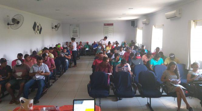 Empresa realiza treinamento para trabalhadores da palha de carnaúba