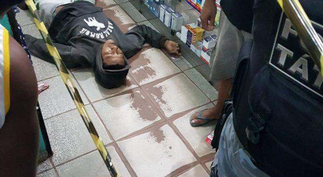 Homem é morto após tentativa de assalto em uma farmácia na cidade de Esperantina