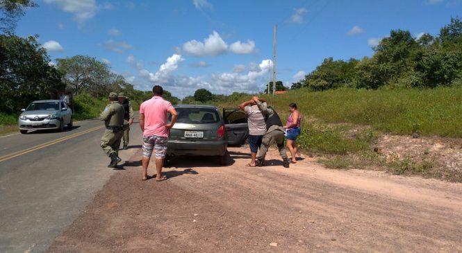 Policia Militar de Joaquim Pires realizou operação, divisa segura