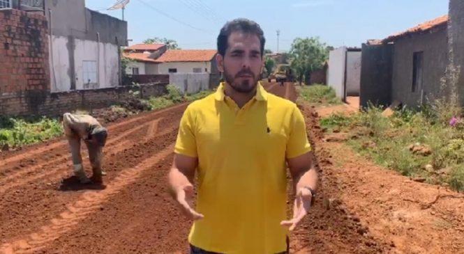 Deputado Federal Marcos Aurélio visita obras de asfaltamento em Esperantina
