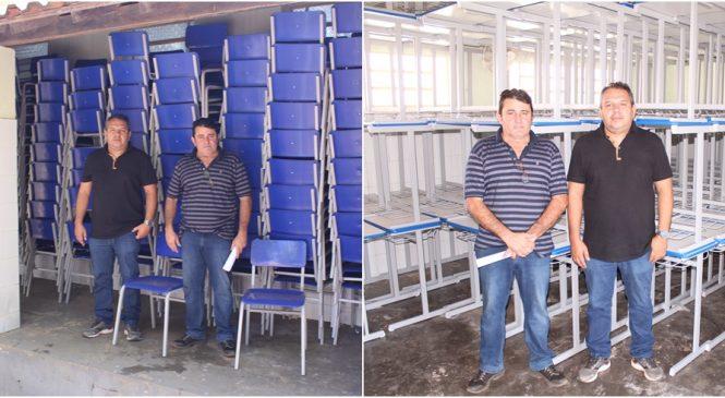 Rede de ensino de Morro do Chapéu recebe novas mesas e cadeiras escolares