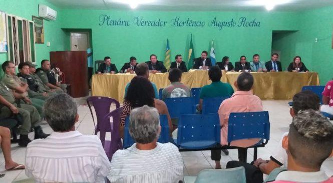Audiência pública em São João do Arraial discute segurança na região dos cocais