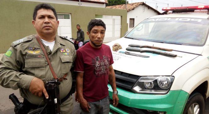 PM prende homem acusado de tentativa de homicídio em Matias Olímpio