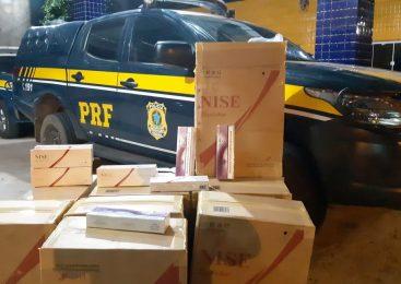 PRF apreende 5 mil maços de cigarros do Paraguai em Piripiri