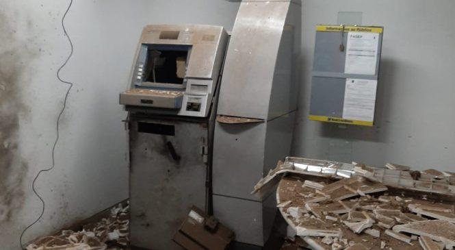 Bandidos fortemente armados explodiram caixas eletrônicos do Banco do Brasil em Joaquim Pires