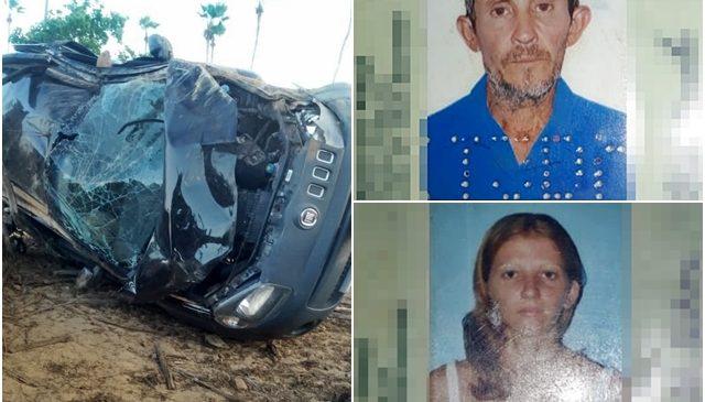 Carro de família capota e deixa saldo de dois mortos e três feridos em Caraúbas do Piauí