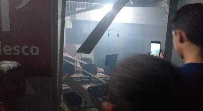 Bandidos explodem agência do Bradesco de Murici dos Portelas nesta madrugada