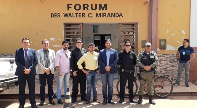 Secretário de Justiça realiza visita técnica para implantação de projeto de ressocialização no presídio de Esperantina