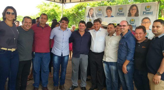 Prefeito Marcos Henrique, acompanhou a visita do Governador W. Dias em Esperantina