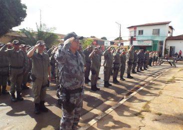 Solenidade alusiva aos 45 anos da 4ª de Polícia Militar na cidade de Esperantina