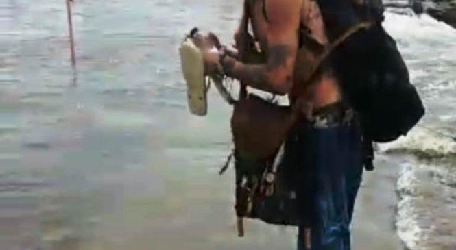 Corpo de Banhista que havia desaparecido é localizado na Cachoeira do Urubu