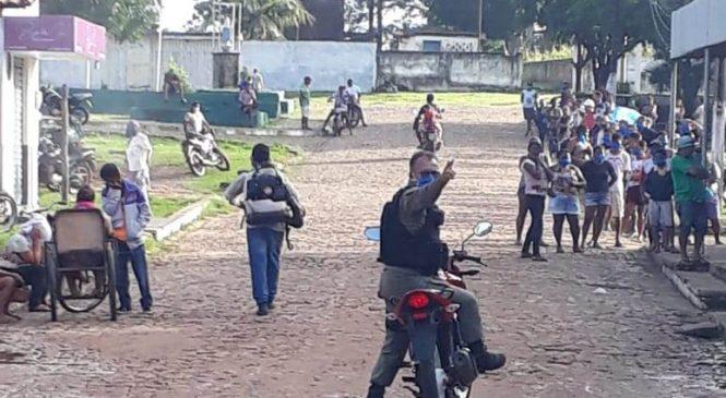 Polícia Militar realiza abordagens em veículos durante barreira sanitária em Nossa Senhora dos Remédios