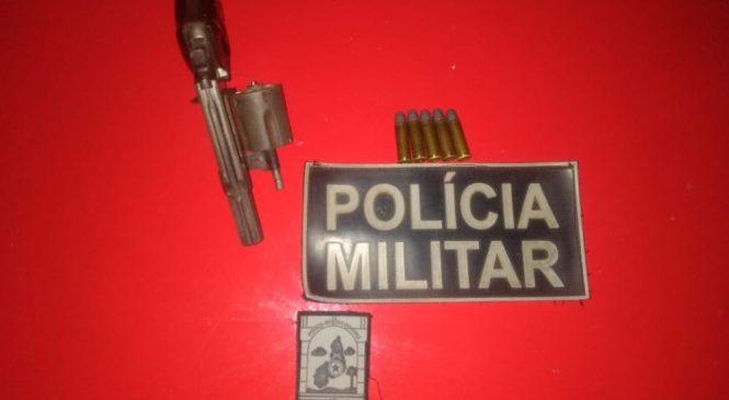 Policia de Luzilândia prende homem com revólver 38 com numeração raspada
