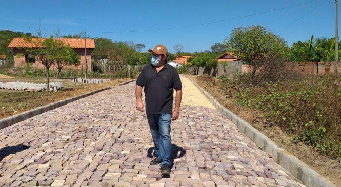 Mais de 5 mil metros de calçamento estão executados em Morro do Chapéu