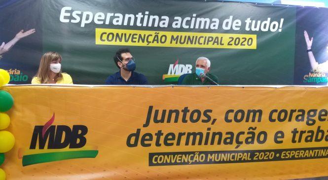 MDB homologa Ivanaria Sampaio como candidata a prefeita de Esperantina