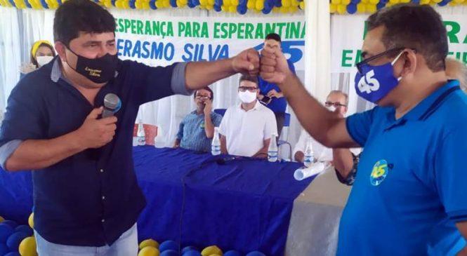 Empresário Erasmo Silva e professor Adriano são confirmados em convenção para disputar a prefeitura de Esperantina pelo PSBD