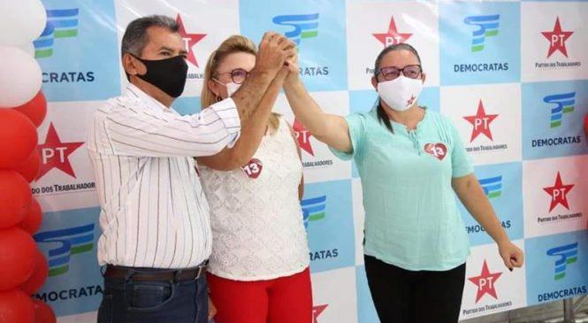 Empresária Jesus Sampaio é confirmada em convenção como candidata a prefeita pelo partido dos Trabalhadores