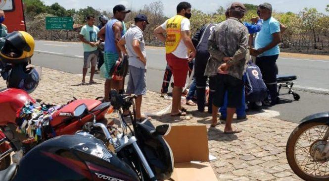 Homem morre em hospital após colisão entre moto e caminhão na BR-343 em Campo Maior