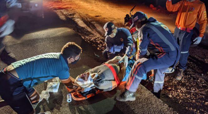 Homem de 25 anos perde o controle da moto e sofre acidente na PI 113