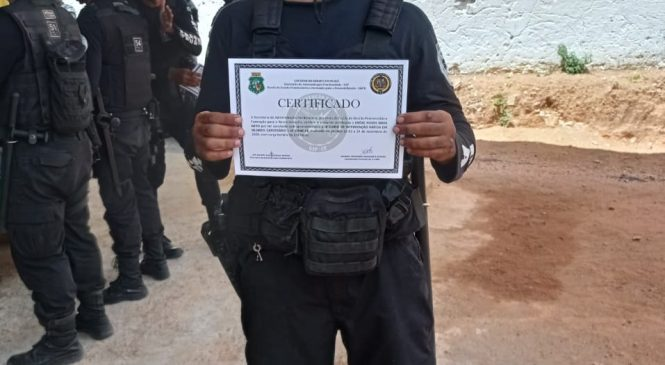 Policial Penal do Piaui conclui curso de intervenção rápida no Ceará