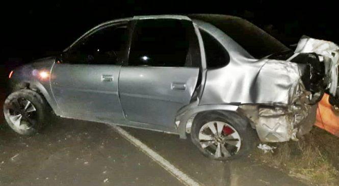 Veículo capota na PI 11 e duas ficam feridas na zona rural de Caxingó