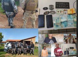 Polícia de Esperantina cumpre mandados de busca e apreensão e 04 foram presos