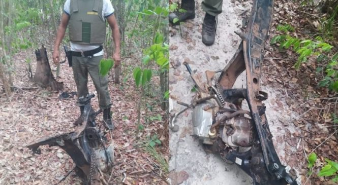 Polícia encontra quadro de motocicleta com registro de roubo no Maranhão