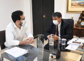 Deputado federal Marcos Aurelio e o governador W. Dias, garantem melhorias para o estado